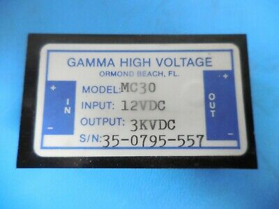 Gamma High Voltage MC30 3KVDC Power Supply