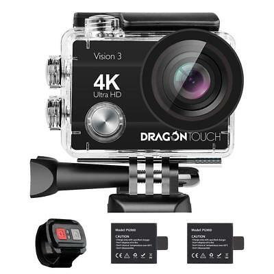4K Action Camera Dragon Touch 16MP Sony Sensor Vision 3 Underwater 170° Angle