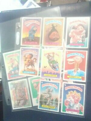 13 Vintage Garbage Pail Kids Trading Card Lot 1986 1987 Retro Rare HTF 80s 1980s