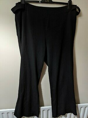 Ladies Maternity Mothercare Black wide trousers in good condition size 18