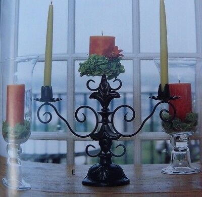 Southern Living At Home Willow House Sherwood Forest Candelabra Estate Iron Nib