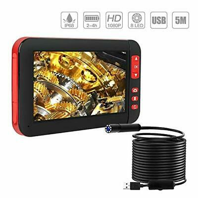 ILIHOME Endoscope Inspection Camera Industial 4.3Inch Color Screen 1080P HD 5M