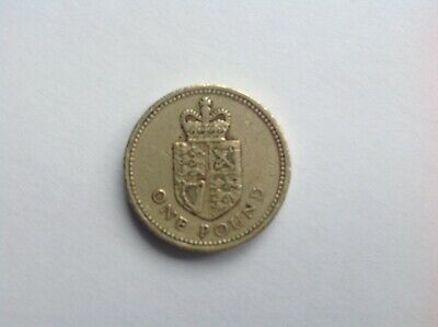 £1 One Pound Rare British Coins Crowned Shield 1988 Round £1 Coin
