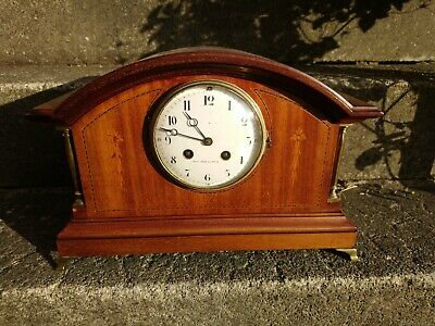 French Mahogany 8 Day Striking Mantel Clock