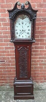 John Peatt,  Crieff, Scotland Carved Oak 8 Day Striking Longcase Clock