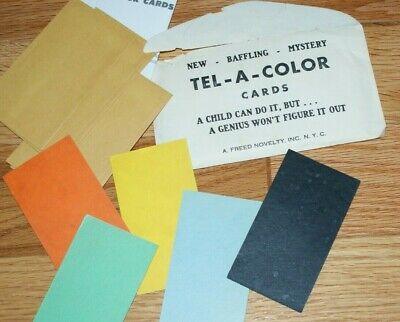 Tel-A-Color (vintage, mid-1970's, A. Freed Novelty) -- close-up divination  TMGS