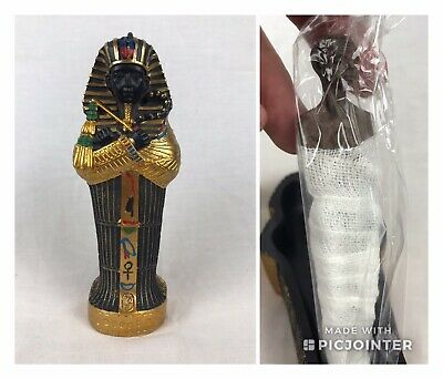"Egyptian King Tut Sarcophagus Coffin Wrapped Mummy Figurine Magnet 6"" Tall Box"