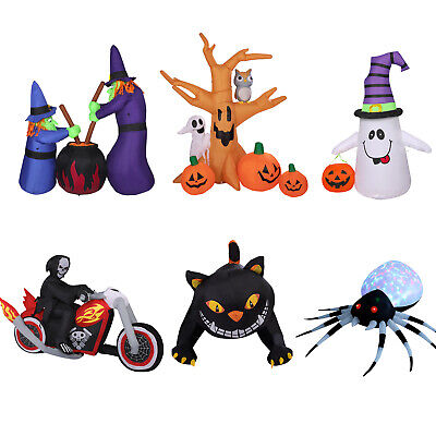 4/6/8ft Halloween Inflatable Pumpkin Ghost Spider Lighted Decorations Yard Decor