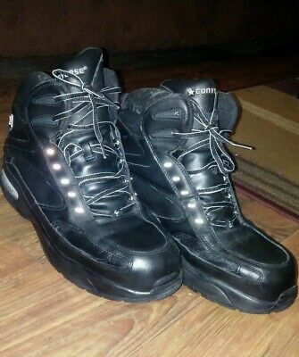 CONVERSE MEN BLACK Leather Ankle Boot Steel Toe Lace Work Hiking Safety Shoe 10M