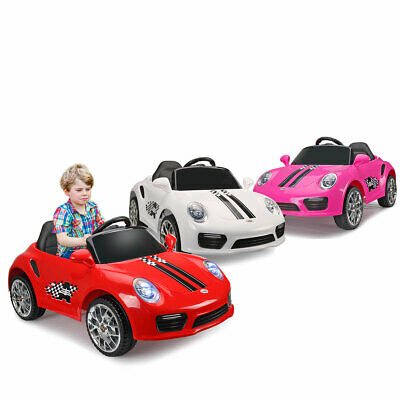 Kids ride on cars Porsche Electric car W/MP3 Horn LED headlights Remote Control