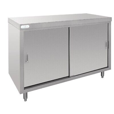 Floor Cupboard Stainless Steel 1200x600x900mm Vogue Two Door Storage Kitchen