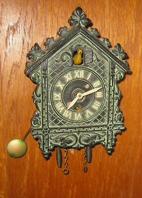 Working w/ Key Miniature CUCKOO CLOCK by LUX CLOCK Mfg. Made in Waterbury, Conn