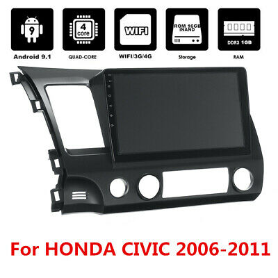 """10.1"""" Touch Screen Android Radio Stereo MP5 GPS Bluetooth For Honda Civic 06-11"""