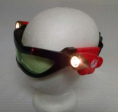 Super hero glasses with lights black and Red Battery Powered Incredibles