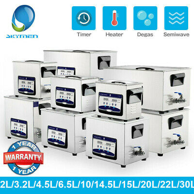 3~30L Professional Ultrasonic Cleaner DEGAS Heater Timer Sonic Cleaning Solution