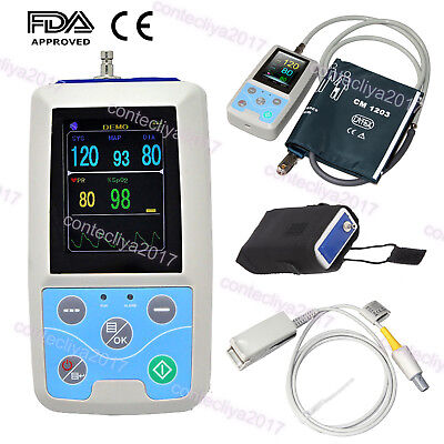 CONTEC PM50 Patient monitor,Portable Blood Pressure Monitor (NIBP SPO2 PR)