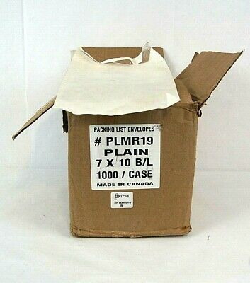 """Open Box 1000 Pouch 7"""" x 10"""" Clear Packing List Plain Face Shipping Envelopes"""