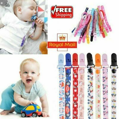 Cute Baby Pacifier Clip Chain Dummy Holder Anti-lost Nipple Clip Strap Soother