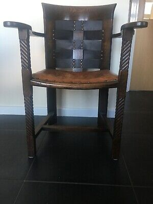 Glasgow School Arts Crafts Armchair In Manner Of George Walton