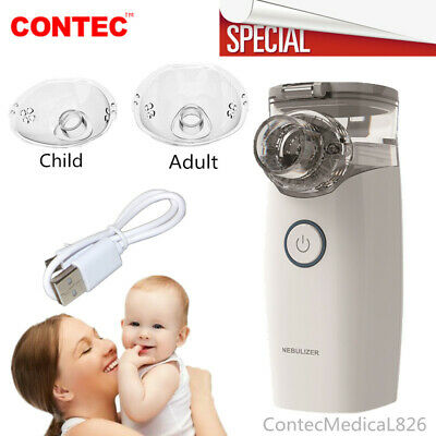 Portable Travel Nebulizer Mesh Inhalers Adult Kid kits for Asthma COPD Two Mask