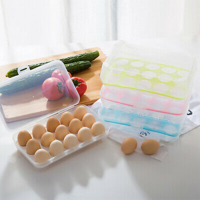15 Grids Egg Storage Case Holder Box Eggs Container Tray For Fridge Freezer Tool