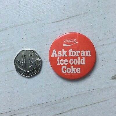 Costa Coffee /& Coca Cola Limited Edition Pin Badge Spinning Cola Bottle