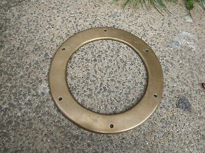 "Antique porthole Ring  brass / bronze, ship, boat ,10"" outer porthole original"