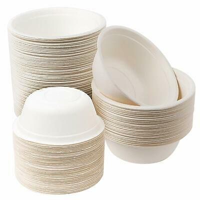 100x Sugarcane Party Bowls Biodegradable Eco Friendly Compostable Catering 500ML