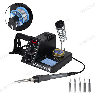 WEP Soldering Station 220V 60W Rework Iron Kit Variable Temperature LED Display