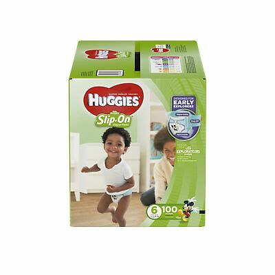 HUGGIES Little Movers Slip On Diaper Pants, Size 6, 100 Count, ECONOMY PLUS