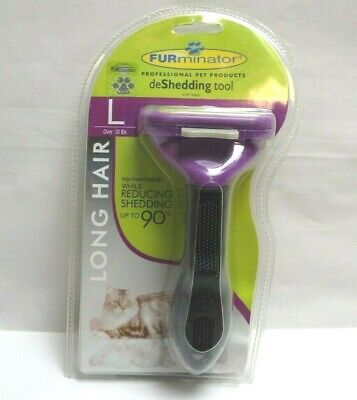 FURminator Long Hair deShedding Tool for Cats, Large