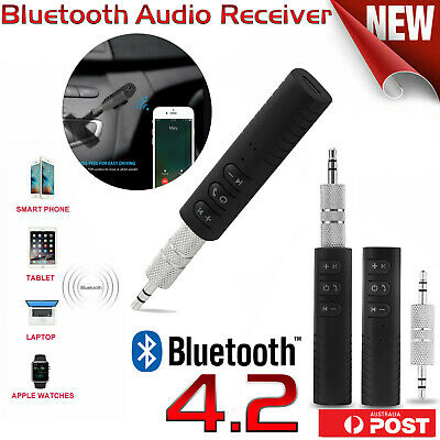 Bluetooth Wireless Handsfree Car Receiver & 3.5mm AUX Music Stereo Audio Adapter