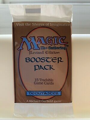 1x Revised Edition Mtg Sealed Booster Pack fresh from box MINT VHTF Free Ship!