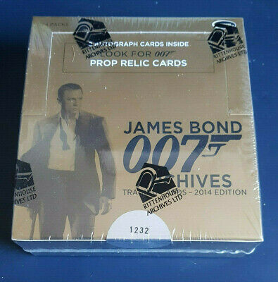 James Bond Archives 2014 Edition Factory Sealed Box #1232/9500 24 Packs