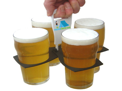 Drinks / Beer / Coffee cup carrier – Carry 4 pints / drinks / Beers  in one hand