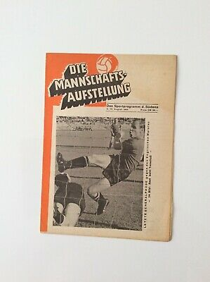 Fc Nurnberg V Manchester United 10.08.1965 Friendly Played Abroad