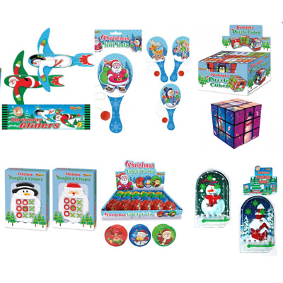CHRISTMAS PARTY BAG FILLERS Kids Xmas Novelty Stocking Toys Games Book Puzzle UK