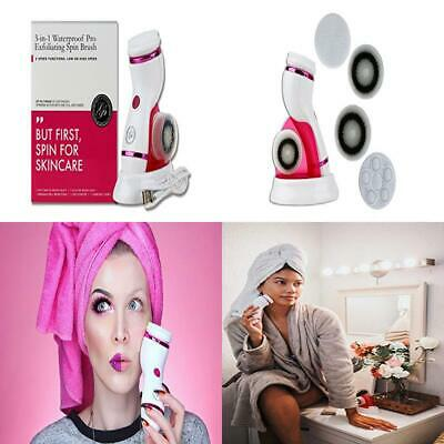 USB Rechargeable Waterproof Exfoliating Electric Facial Cleansing Spin Brush...