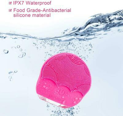 Silicone Facial Cleansing Brush,LANDWIND Face Cleaner Brush Electric red