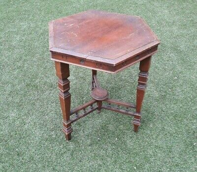 Antique Vintage Side Table Occasional Hexagonal - Restore me please!
