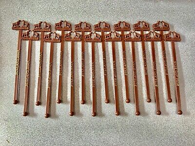 Lot of 17 Vintage BULL AND BEAR Swizzle Stick stirrer from Waldorf Astoria in NY