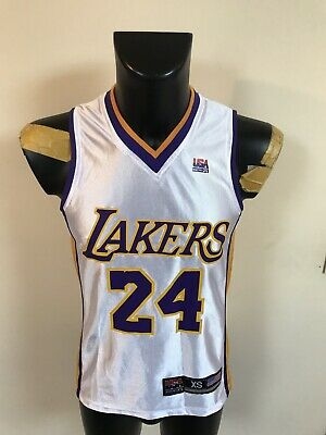 Maillot Basket Nba Lakers Numero 24 Bryant Taille XS