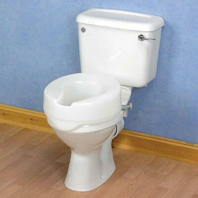 Homecraft Ashby Easy Fit Raised Toilet Seat, High Elevated 10cm/4 Inches