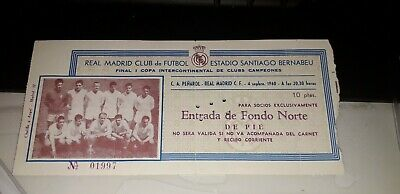 Entrada Futbol Football Ticket Intercontinental Real Madrid Peñarol Montevideo 49 00 Picclick Uk