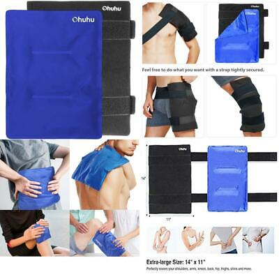 Ice Pack for Injuries, Ohuhu 36x28cm Large Reusable Gel with Wrap...