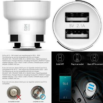 Xiaomi ROIDMI Car Bluetooth Charger Adapter-(Bluetooth 4.0 FM Transmitter,...