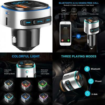 FM Transmitter for Car,FLY5D Bluetooth Car Dual Charge...