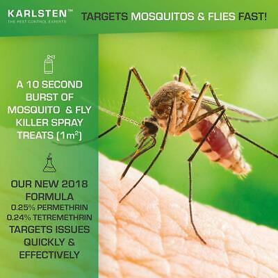 Mosquito Killer & Fly Aerosol 300 ML Targets Mosquitoes & Flies Fast...