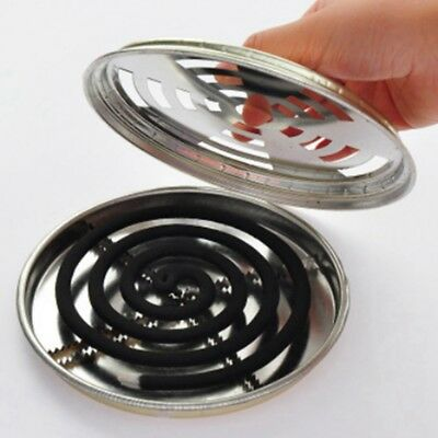 1//2x Mosquito Repellent Boxes Cover Holder Incense Plate Safety Windproof Newest