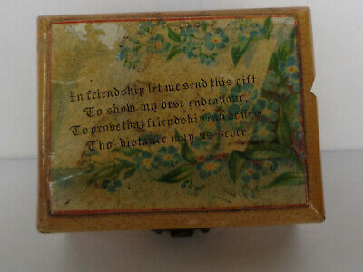 Small Antique Mauchline Ware Box, (Approx Length: 65 Mil)